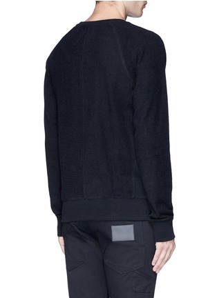 Back View - Click To Enlarge - Den Im By Siki Im - Side zip cotton French terry sweatshirt