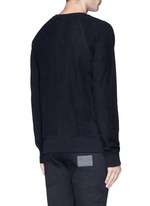 Side zip cotton French terry sweatshirt
