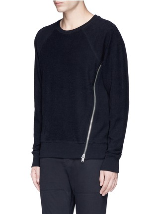 Front View - Click To Enlarge - Den Im By Siki Im - Side zip cotton French terry sweatshirt