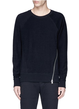Main View - Click To Enlarge - Den Im By Siki Im - Side zip cotton French terry sweatshirt