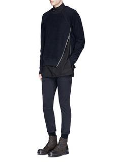 Den Im By Siki ImSide zip cotton French terry sweatshirt