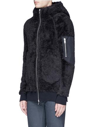 正面 -点击放大 - DEN IM BY SIKI IM - 珊瑚绒质感连帽外套