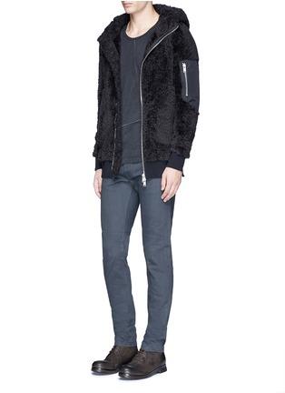 Figure View - Click To Enlarge - SIKI IM / DEN IM - Polar fleece zip hoodie