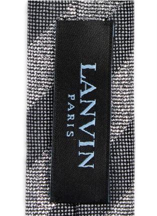 Lanvin-Glitter regimental stripe tie
