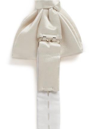细节 - 点击放大 - LANVIN - 单色缎面真丝领结