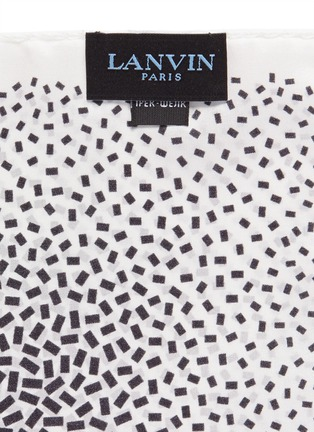 细节 - 点击放大 - LANVIN - 长方块印花真丝袋巾