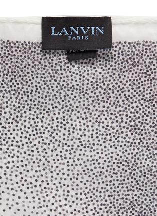 细节 - 点击放大 - LANVIN - 波点印花真丝袋巾