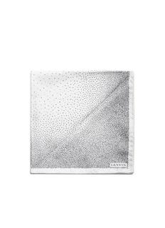 LanvinMix dot print silk pocket square