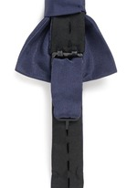 'Paris' silk grosgrain bow tie