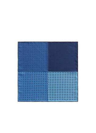 LANVIN-拼色方块波点真丝袋巾