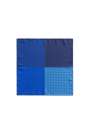 首图 - 点击放大 - LANVIN - 拼色方块波点真丝袋巾