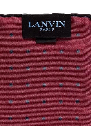 细节 - 点击放大 - LANVIN - 拼色方块波点真丝袋巾