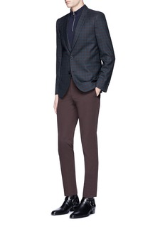 Paul Smith Slim fit gingham check wool blazer