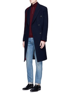 Paul Smith Houndstooth stripe wool coat
