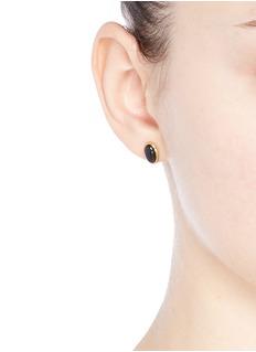 NIIN'Umbra' onyx stud earrings