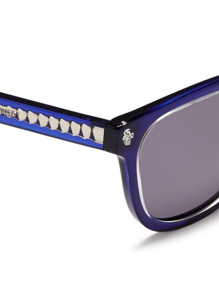 Detail View - Click To Enlarge - Alexander McQueen - Floating skull stud acetate D-frame sunglasses
