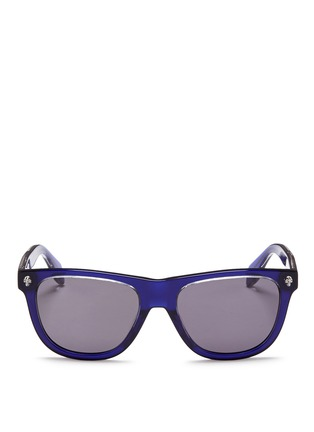 Main View - Click To Enlarge - Alexander McQueen - Floating skull stud acetate D-frame sunglasses