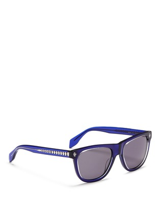 Figure View - Click To Enlarge - Alexander McQueen - Floating skull stud acetate D-frame sunglasses