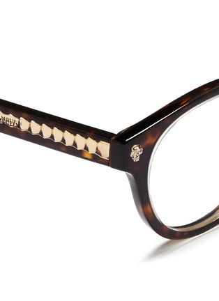 Detail View - Click To Enlarge - Alexander McQueen - Floating skull stud tortoiseshell acetate optical glasses