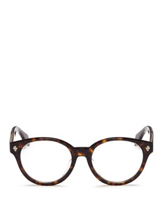 Alexander McQueen Floating skull stud tortoiseshell acetate optical glasses
