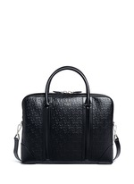 'LC' embossed star and trident leather briefcase