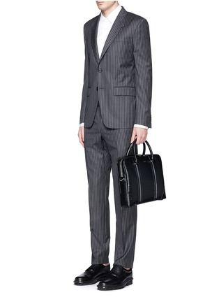 Figure View - Click To Enlarge - Givenchy - 'LC' embossed star and trident leather briefcase