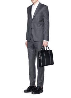 Givenchy 'LC' embossed star and trident leather briefcase