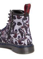 'Brooklee' Marceline print canvas toddler boots