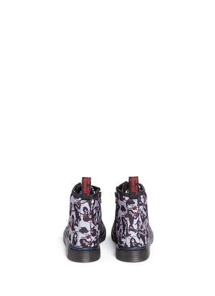 Back View - Click To Enlarge - Dr. Martens - 'Brooklee' Marceline print canvas toddler boots