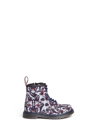 Main View - Click To Enlarge - Dr. Martens - 'Brooklee' Marceline print canvas toddler boots