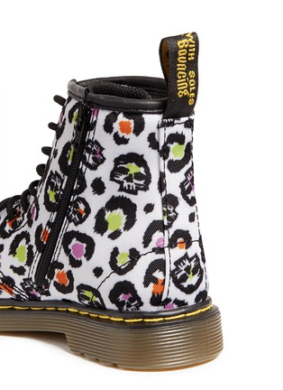 Detail View - Click To Enlarge -  - 'Brooklee' skull leopard print canvas toddler boots