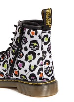 'Brooklee' skull leopard print canvas toddler boots