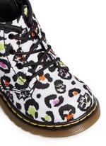 'Brooklee B' skull leopard print canvas infant boots