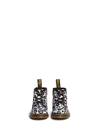 Figure View - Click To Enlarge - Dr. Martens - 'Brooklee B' skull leopard print canvas infant boots