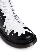 'Delaney' paint splat print leather junior boots
