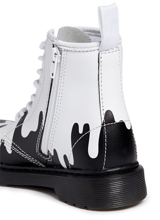- 'Delaney' paint splat print leather junior boots