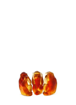 Main View - Click To Enlarge - DAUM - The Three Wise Monkeys sculpture set