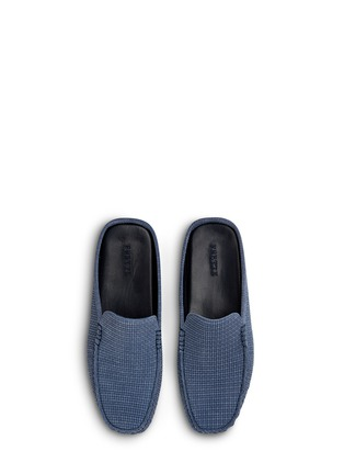 Main View - Click To Enlarge - Frette - Morris suede basketweave men's slippers