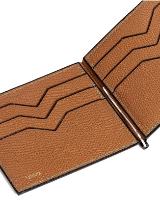 Detail View - Click To Enlarge - Valextra - 'Simple Grip Spring' leather wallet