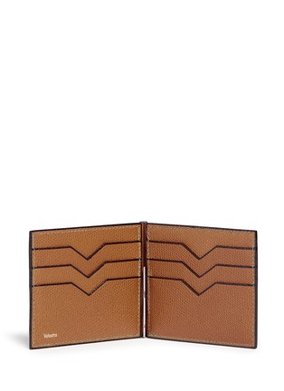Figure View - Click To Enlarge - Valextra - 'Simple Grip Spring' leather wallet