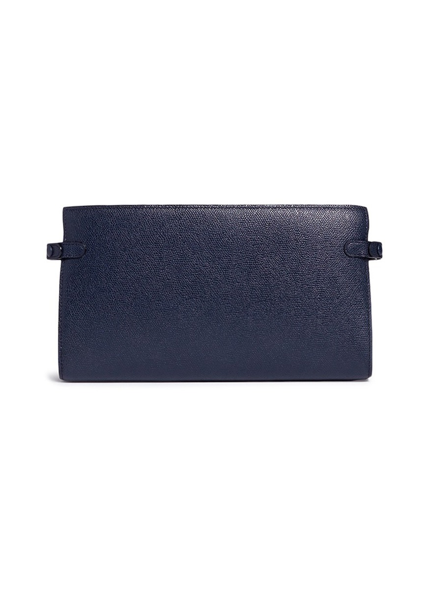 Leather travel accessories case by Valextra