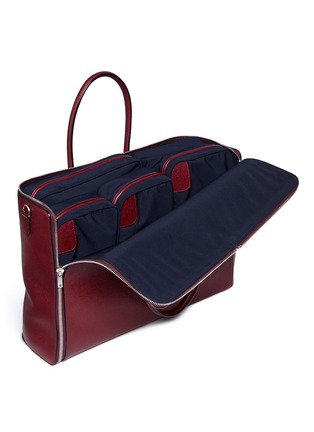 Detail View - Click To Enlarge - Valextra - Fold out leather travel bag and zip pouch set