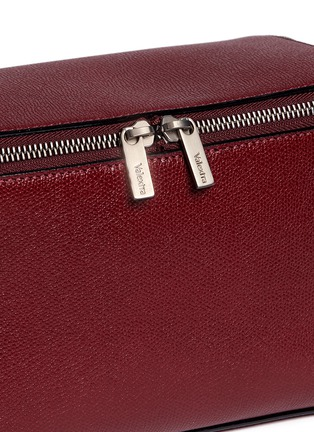 Detail View - Click To Enlarge - Valextra - Fold out leather travel pouch