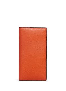 ValextraVertical leather wallet