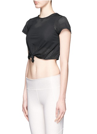Beth Richards - 'Haute' perforated mesh cropped T-shirt