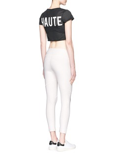 Beth Richards 'Haute' perforated mesh cropped T-shirt