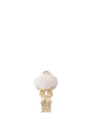 细节 - 点击放大 - SHAOO PARIS - 钻石白玉18K黄金戒指