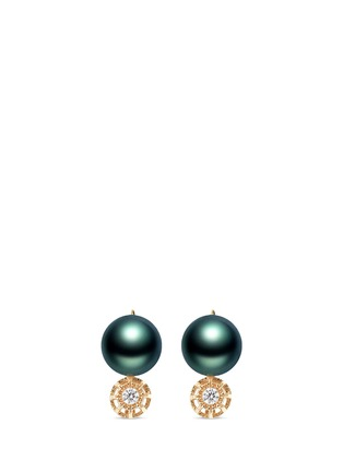 SHAOO PARIS-钻石珍珠18K黄金耳环