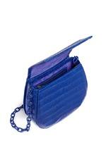 Crocodile leather interchangeable strap round crossbody bag
