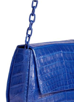 Detail View - Click To Enlarge - Nancy Gonzalez - Crocodile leather interchangeable strap round crossbody bag